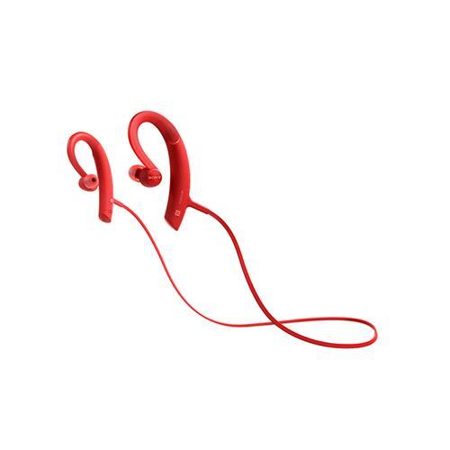 SONY 重低音運動藍牙耳道式耳麥 MDR-XB80BS-R紅