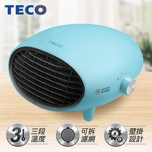 【TECO東元】可壁掛陶瓷式電暖器YN1251CB