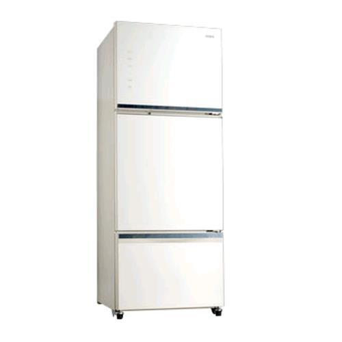 SAMPO 聲寶455公升玻璃三門變頻冰箱 SR-P46GDV(W5)典雅白