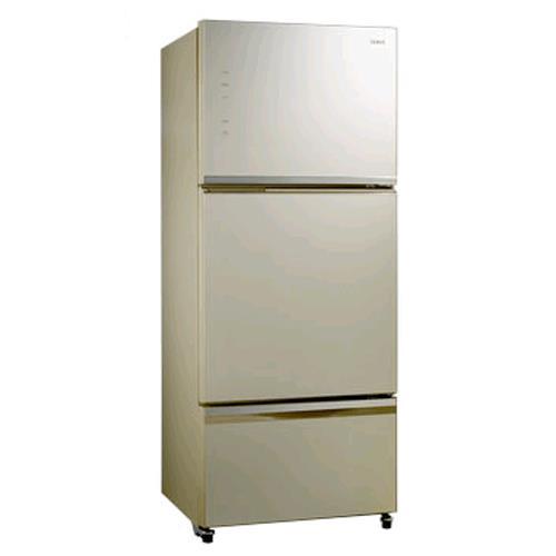 SAMPO 聲寶 530公升玻璃三門變頻冰箱 SR-P53GDV(Y5)(香檳金)