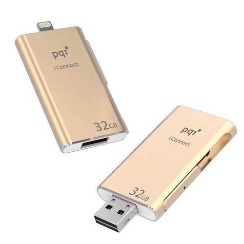PQI iConnect 蘋果隨身碟 32G 金色
