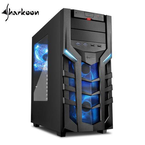 Sharkoon旋剛 DG7000 blue 聖龍者-藍 電腦機殼