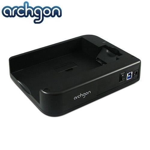 archgon 水平式可堆疊硬碟外接座(MH-3507-U3A)/支援2.5吋與3.5吋SATA I/II/III硬碟