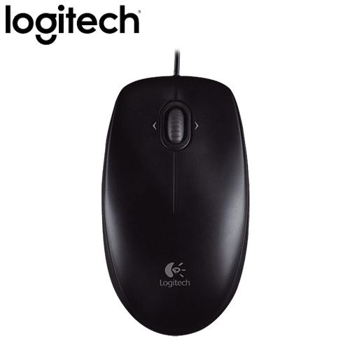 Logitech 羅技 M100r 有線光學滑鼠 黑