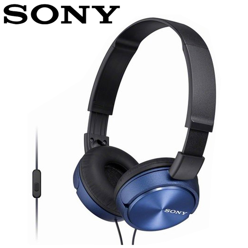 SONY 索尼 MDR-ZX310AP 全系列智慧型手機線控耳罩式耳機  藍