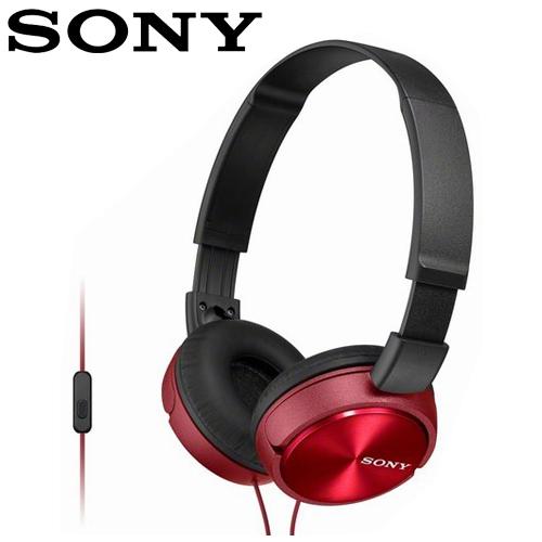 SONY 索尼 MDR-ZX310AP 全系列智慧型手機線控耳罩式耳機  紅