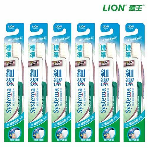LION 獅王 細潔標準牙刷 X6入