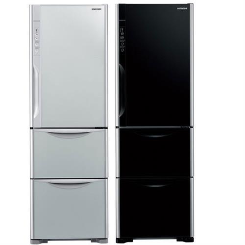 HITACHI 385公升鏡面三門變頻冰箱RG41WSGPW(琉璃白)