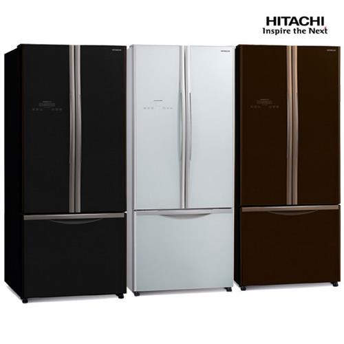 HITACHI 481公升琉璃時尚三門變頻冰箱RG470GPW(琉璃白)