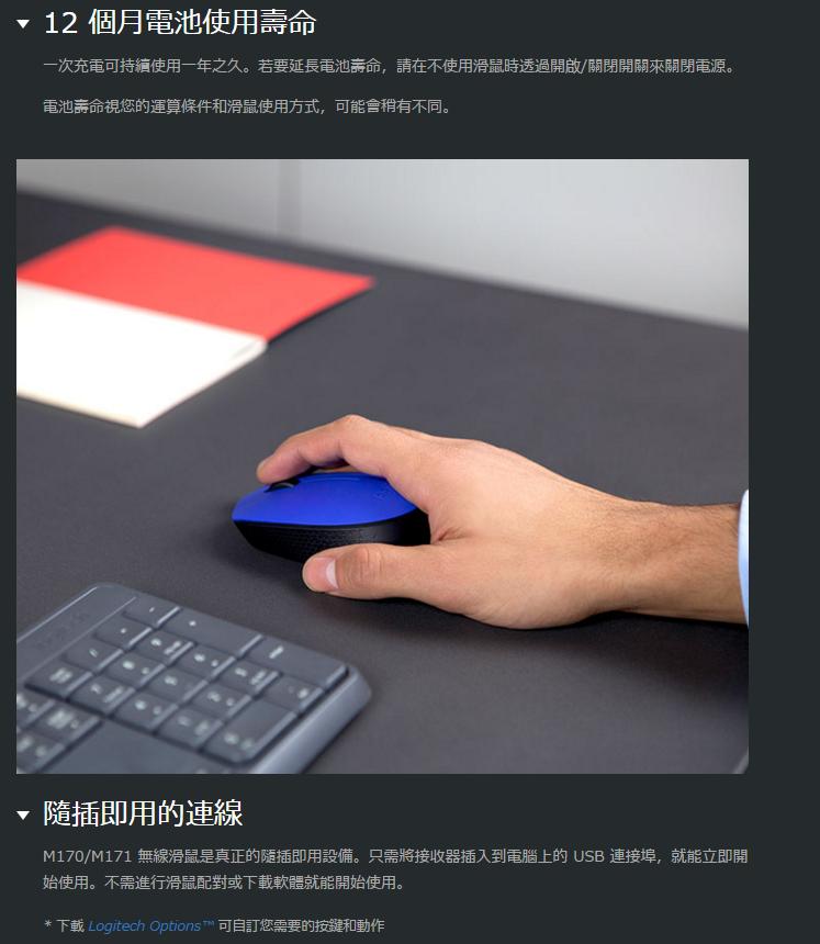 Logitech 羅技 M171 無線滑鼠|EcLife良興購物網