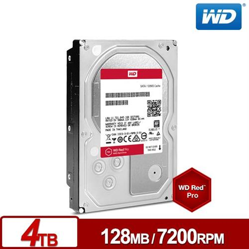 WD 旗艦紅 3.5吋 4TB SATA3 NAS專用內接硬碟 4002FFWX