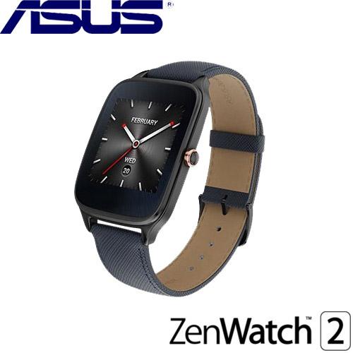 ASUS華碩 ZenWatch 2 智慧型手錶 快充進化版 真皮伯爵藍 (大錶) - 藍