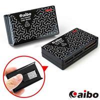 aibo AB07 時尚ATM晶片多功能讀卡機-黯黑時尚