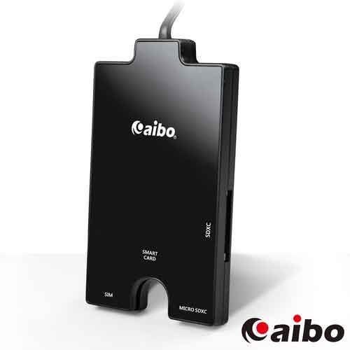 aibo AB19 黑鑽石 ATM晶片+記憶卡 多合一讀卡機