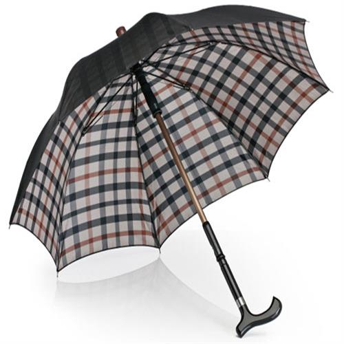 【Weather Me】格紋可抽離長青傘 (拐杖可分離)