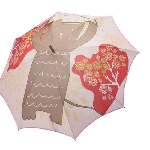 一片無接縫自動傘-和風招財貓