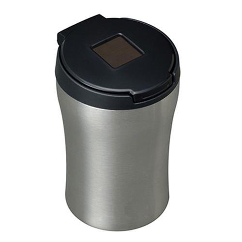 日本SEIWA 不銹鋼太陽能夜間感應式LED燈 煙灰缸(銀)