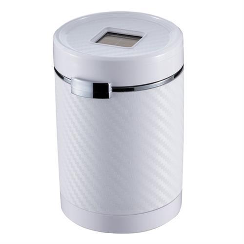 日本NAPOLEX 太陽能LED煙灰缸(碳纖白) Fizz-1022