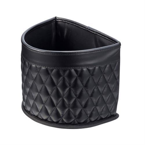 日本SEIKOSANGYO 高質感皮革 半圓形垃圾桶 置物箱 EH-176