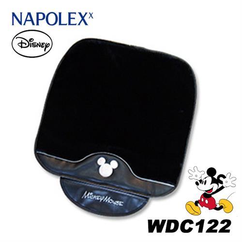日本NAPOLEX Disney 米奇 長絨毛舒適坐墊 黑色 WDC122