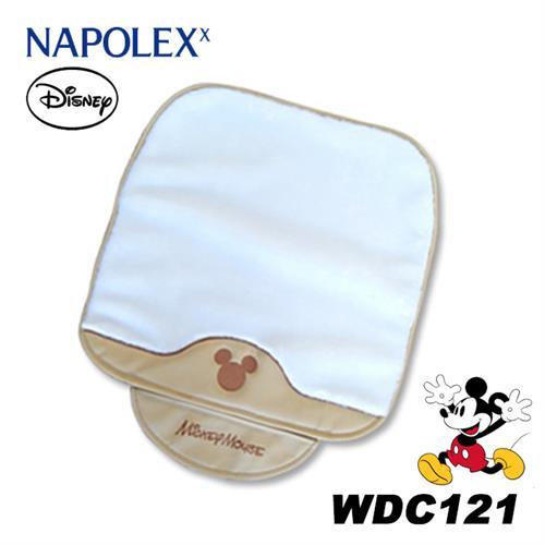 日本NAPOLEX Disney 米奇 長絨毛舒適坐墊 白色 WDC121