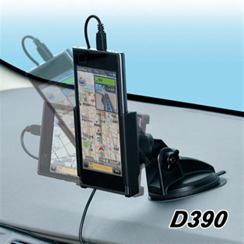 日本SEIWA 吸盤式手機架+充電器組 D390