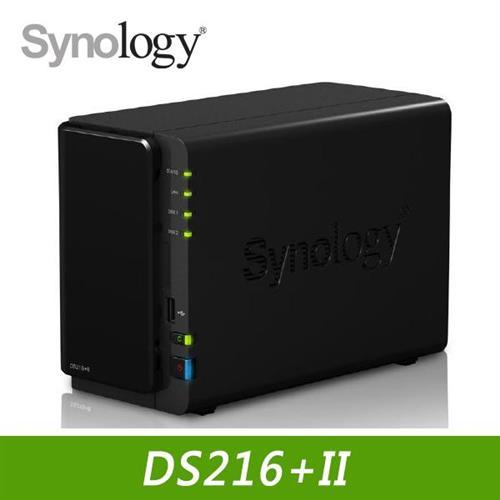 Synology 群暉 DS216+II 2Bay網路儲存伺服器