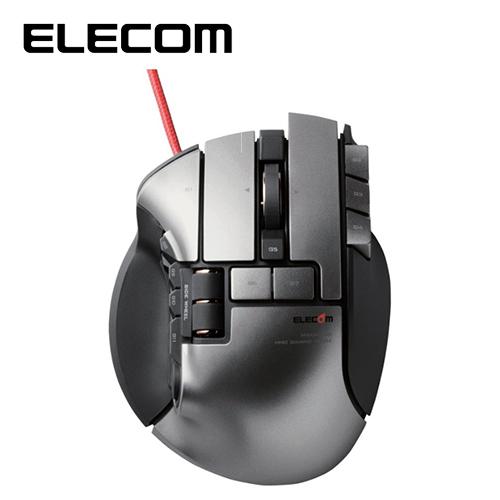 ELECOM DUX MMO遊戲滑鼠 (雙機操作 19按鍵)