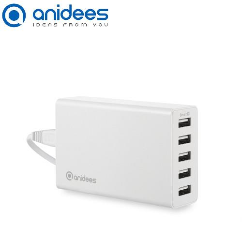 anidees 5Port Usb 智能充電器