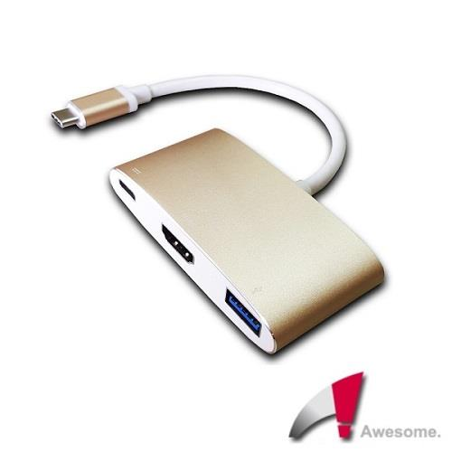 Awesome USB 3.1 TypeC to HDMI/TypeC/USB3.0轉接盒-A00250002