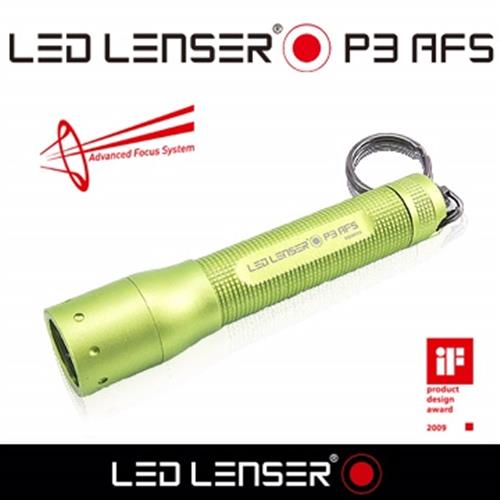德國 LED LENSER P3 AFS伸縮調焦手電筒-綠
