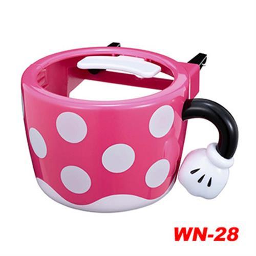 日本NAPOLEX Disney 米妮 冷氣孔飲料架 WN-28