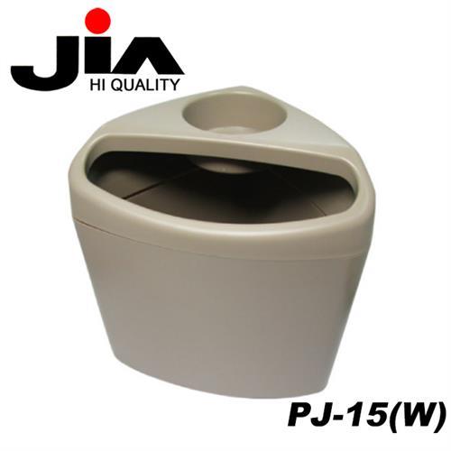 JIA 汽車專用防傾倒飲料架垃圾桶(附腳踏墊夾板) 米色 PJ-15