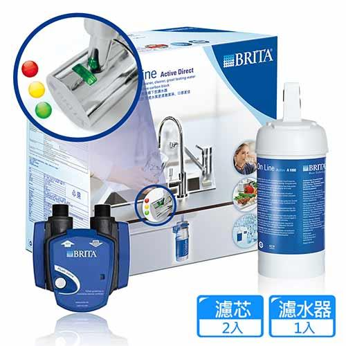 德國BRIT LED On Line A1000A櫥下型濾水器(本組合內含2濾芯