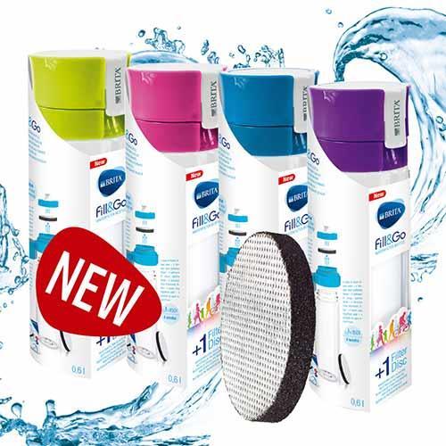 德國BRITA Fill&Go隨身濾水瓶600ml(藍)(內含濾片*1)【原價629 ↘隨時喝好水】