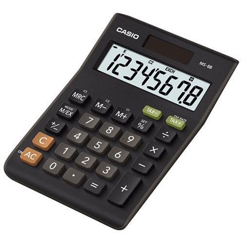 CASIO卡西歐 8位數商用桌上型計算機 MS-8B