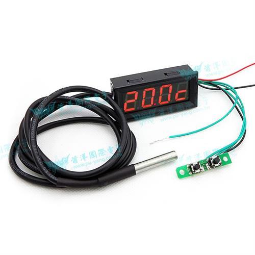 0.56四位元 溫度/時間/電壓三合一LED錶頭(黑殼紅光)