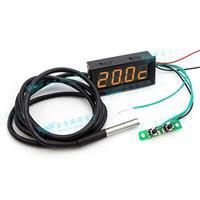 0.56四位元 溫度/時間/電壓三合一LED錶頭(黑殼黃光)