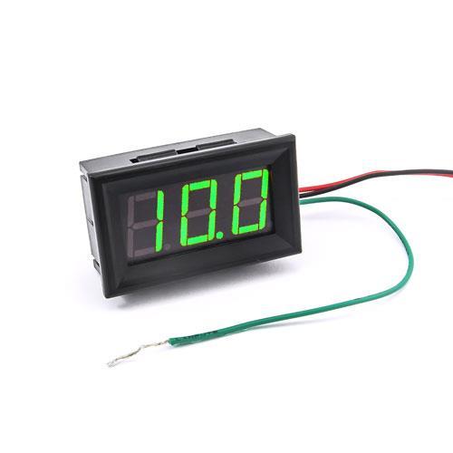 防水型0.56三位元 LED電壓錶頭 DC0~200V(黑殼綠光)