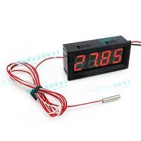 防水型0.56四位元 LED溫度錶頭/PT100(黑殼紅光)