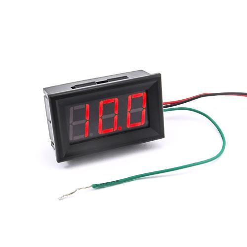 防水型0.56三位元 LED電壓錶頭-黑殼紅光