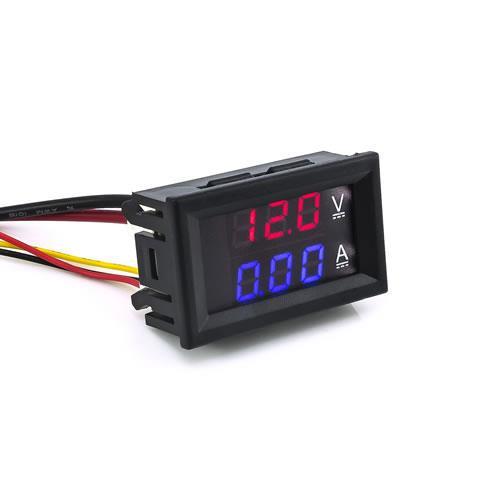 三位元雙顯示 LED直流電壓/電流錶頭 DC100V/10A (紅/藍)