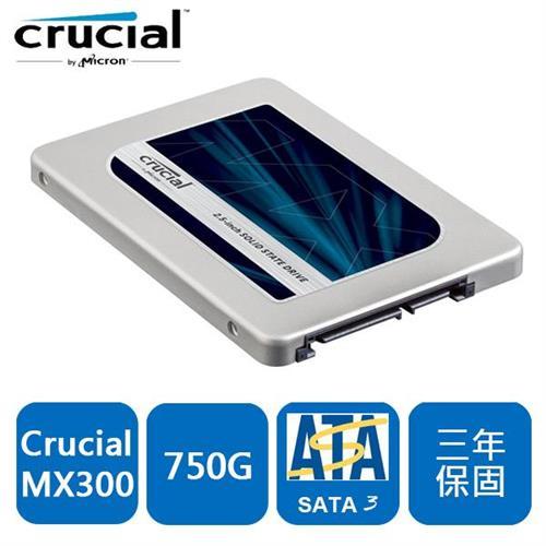 【網購獨享優惠】美光 MX300 750GB 2.5吋 SATA3 SSD固態硬碟