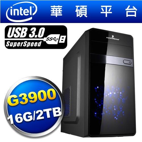 華碩H170平台【荒野捷豹】雙核燒錄效能電腦