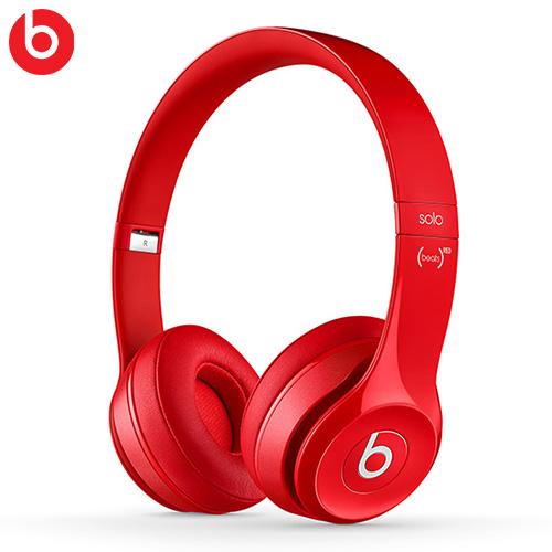Beats Solo2 耳罩式耳機麥克風 紅