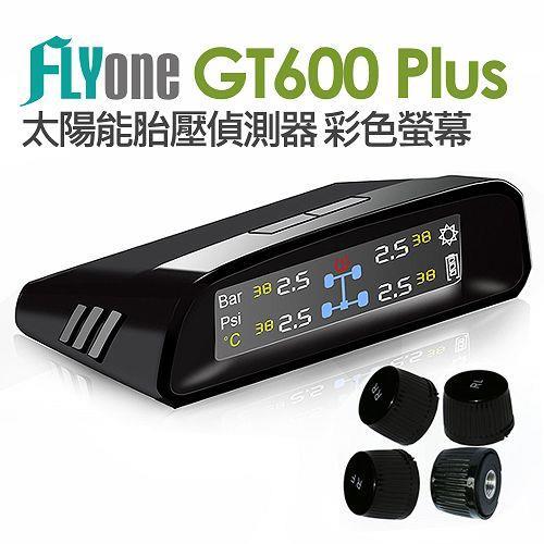 FLYone GT600 Plus 太陽能胎壓偵測器 彩色螢幕贈雙車充+線