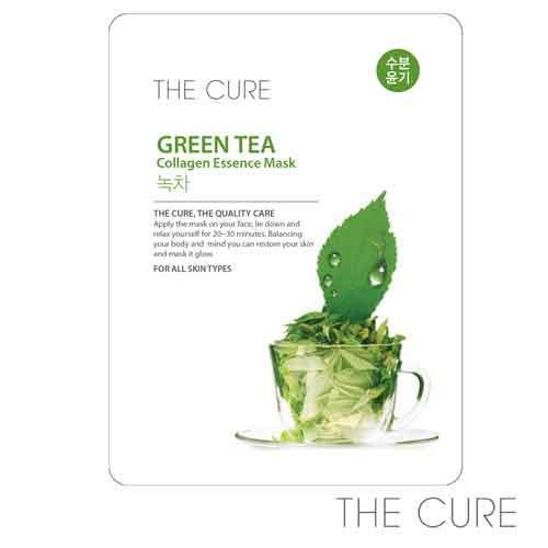 韓國THE CURE-綠茶油水平衡面膜(1片)
