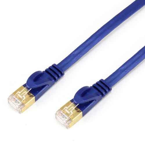 PowerSync Cat7超薄扁線2M珍珠藍