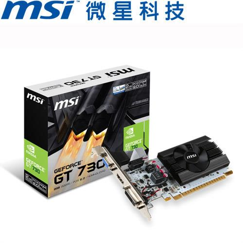 MSI微星 GeForce® N730K-2GD5LP/OCV1 顯示卡