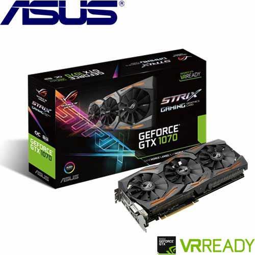 ASUS華碩 GeForce® STRIX-GTX1070-O8G-GAMING 顯示卡